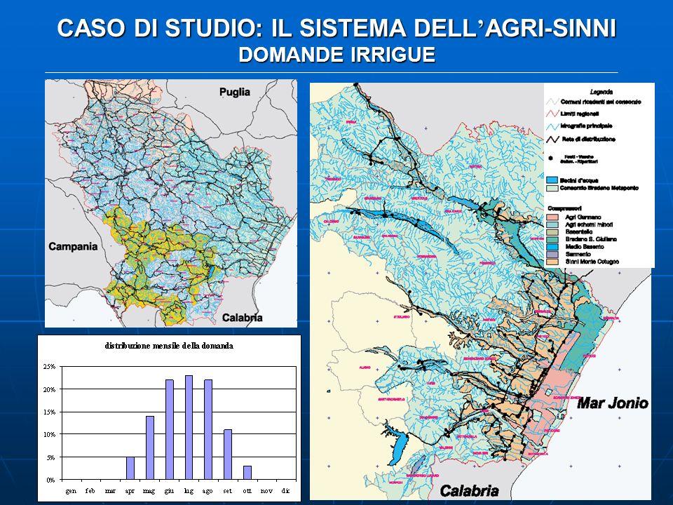 CASO DI STUDIO: IL SISTEMA DELL AGRI-SINNI DOMANDE IRRIGUE