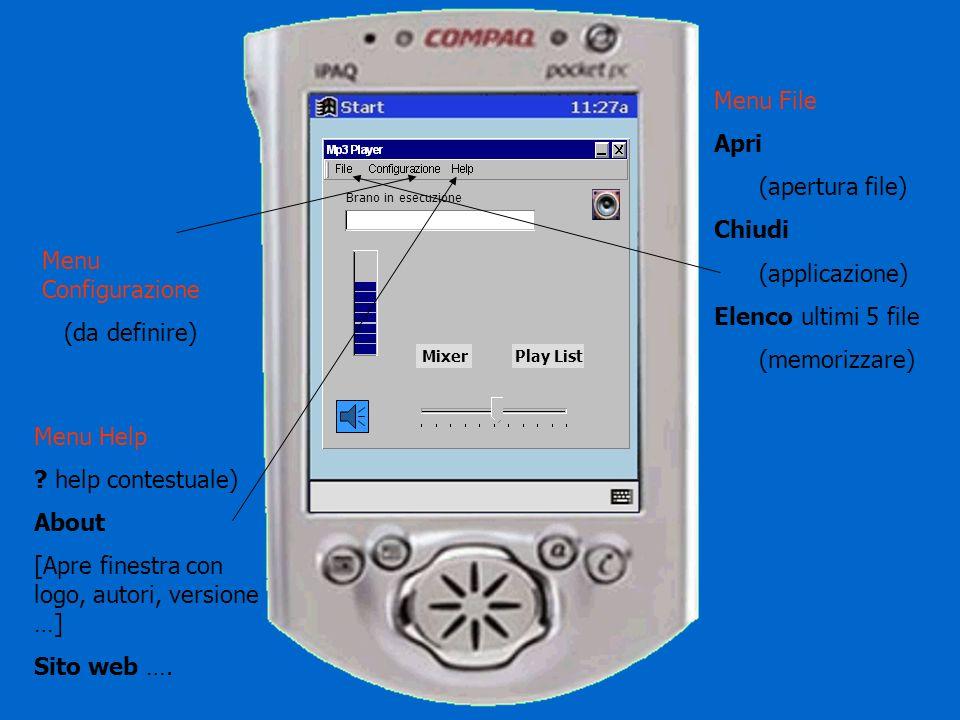 Brano in esecuzione MixerPlay List Finestra non apribile a tutto schermo Finestra non ridimensionabile