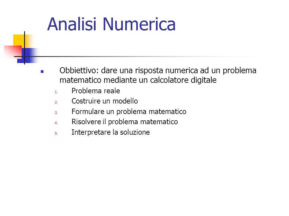 Numeri di macchina Poiche si hanno a disposizione un numero finito di bits, solo un sottoinsieme dei numeri reali e rappresentabile in un computer.