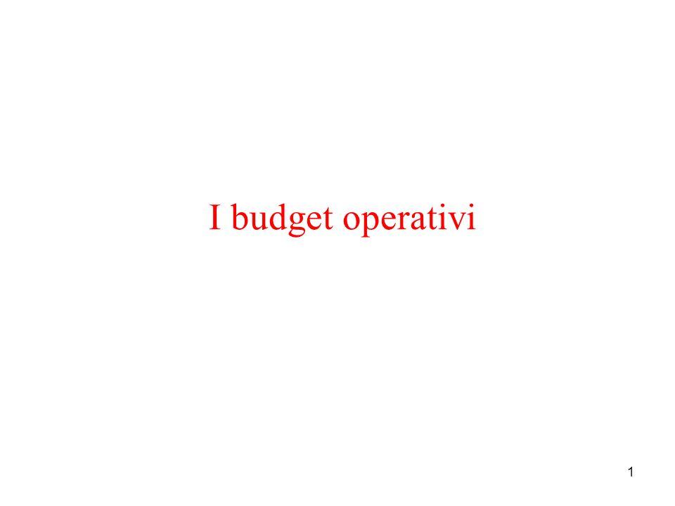 1 I budget operativi