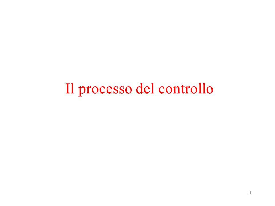 1 Il processo del controllo