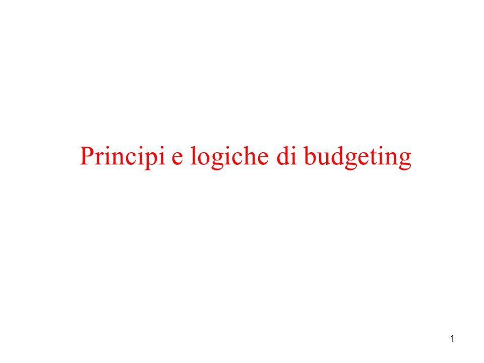 1 Principi e logiche di budgeting