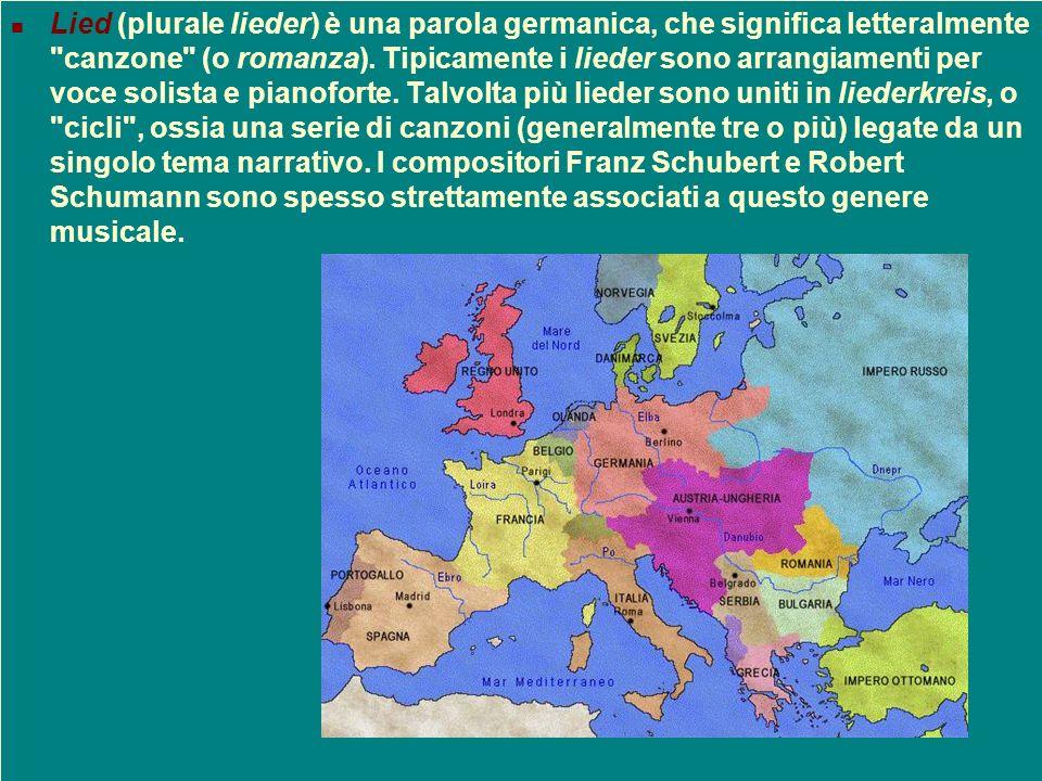 Lied (plurale lieder) è una parola germanica, che significa letteralmente