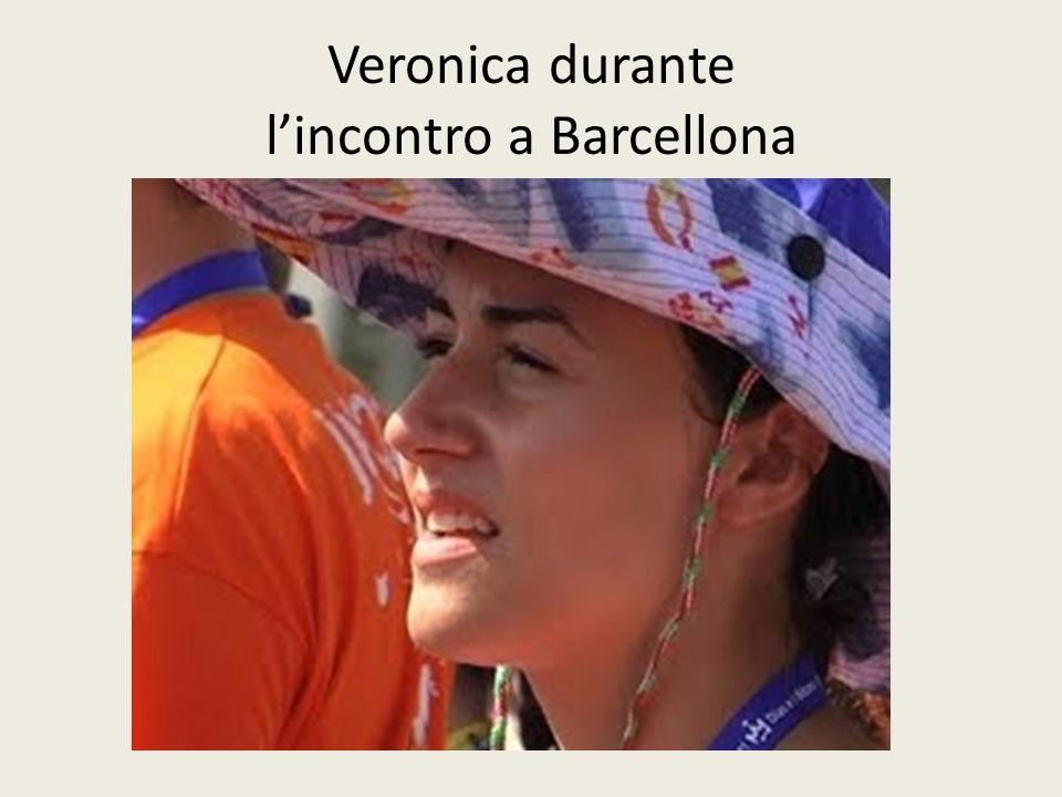 Veronica durante lincontro a Barcellona
