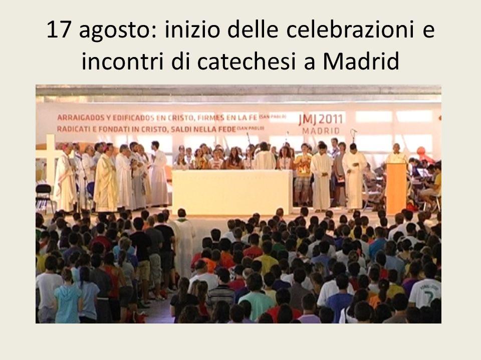 Venerdì 19 agosto 2011 La catechesi al Pabellon de Cristal con il vescovo Alberto Tanasini, di Chiavari, che affronta il tema della testimonianza.