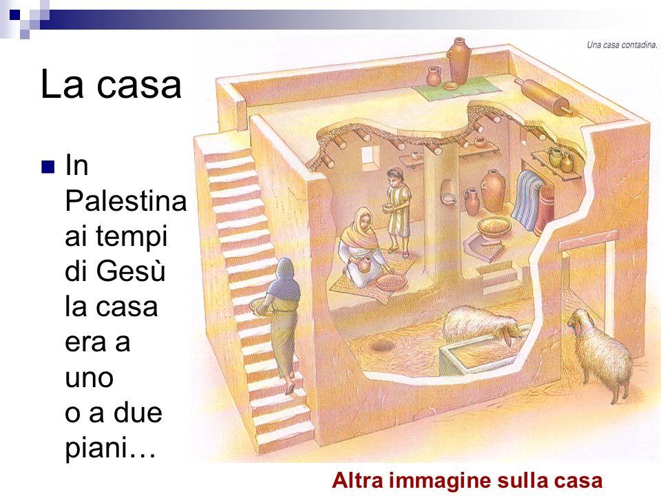 La casa In Palestina ai tempi di Gesù la casa era a uno o a due piani… Altra immagine sulla casa
