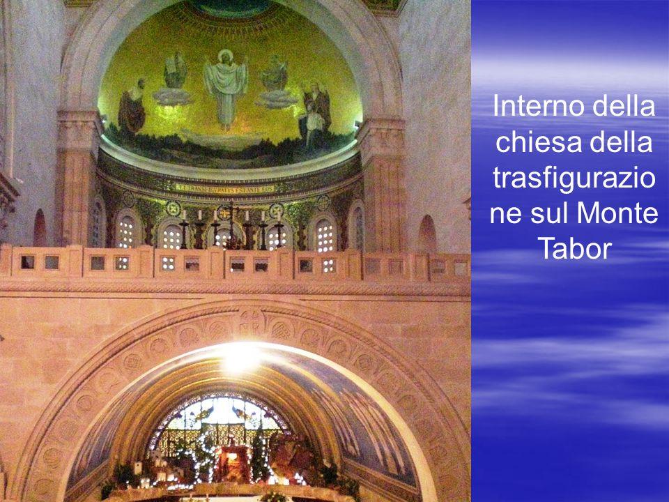 Interno della chiesa della trasfigurazio ne sul Monte Tabor