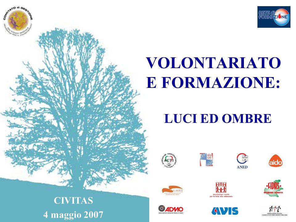 VOLONTARIATO E FORMAZIONE: LUCI ED OMBRE CIVITAS 4 maggio 2007