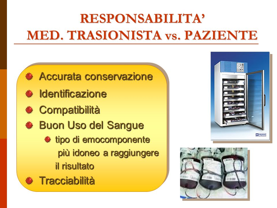 RESPONSABILITA MED. TRASIONISTA vs.