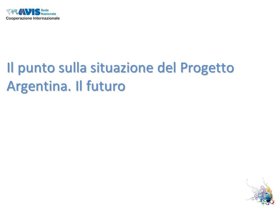 Il punto sulla situazione del Progetto Argentina. Il futuro
