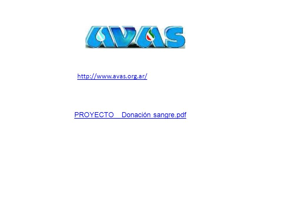 PROYECTO_ Donación sangre.pdf http://www.avas.org.ar/