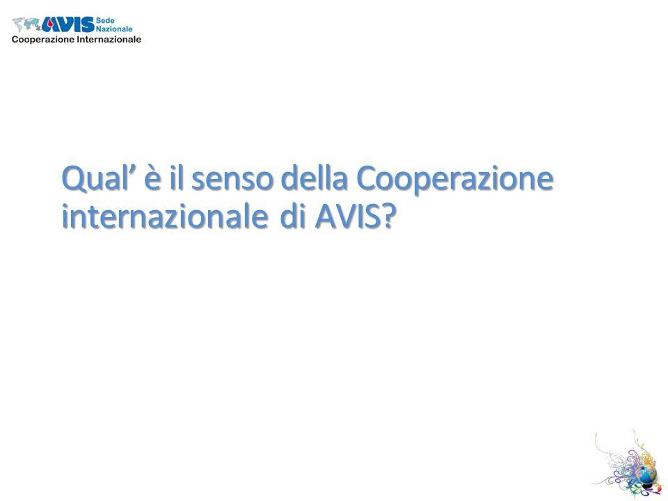 Qual è il senso della Cooperazione internazionale di AVIS