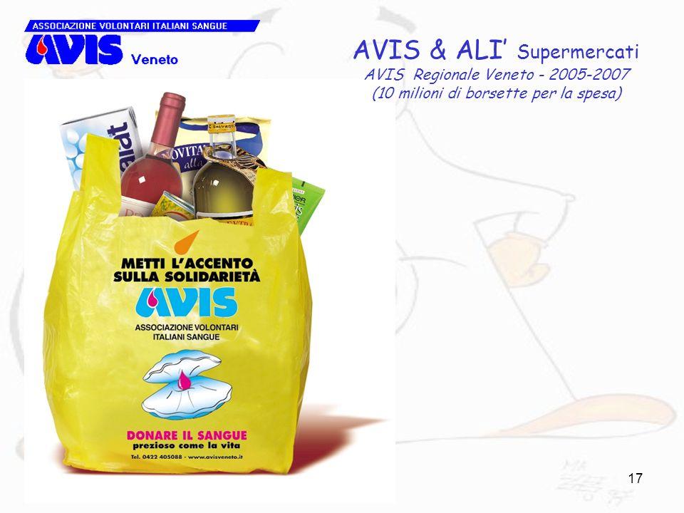 17 AVIS & ALI Supermercati AVIS Regionale Veneto - 2005-2007 (10 milioni di borsette per la spesa)