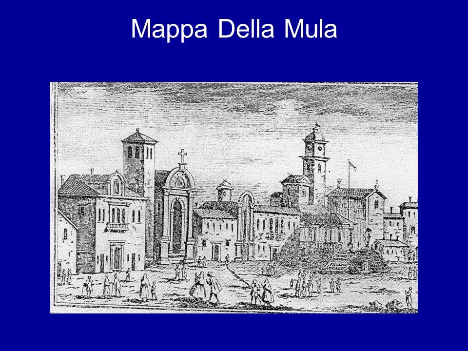 DAL 1743 AL 1878 1743-1815 Nel 1743 la chiesa viene allargata verso riva per 8,40 metri ed è costruita labside.