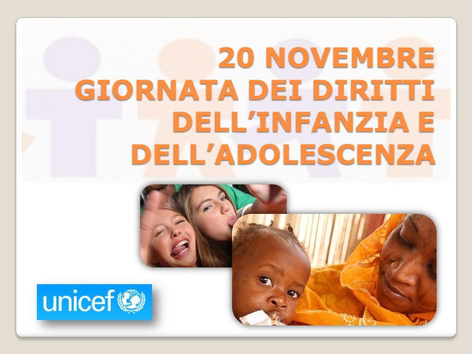 La Convenzione sui diritti dell infanzia La Convenzione ONU sui diritti dellinfanzia e delladolescenza (Convention on the Rigths of the Child) è stata approvata dallAssemblea Generale delle Nazioni Unite il 20 novembre 1989.