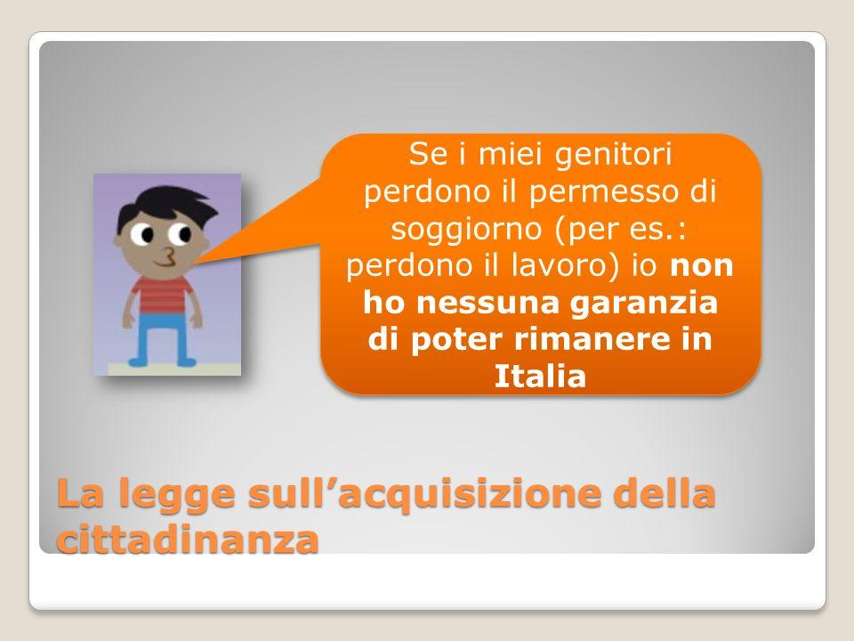 Se i miei genitori perdono il permesso di soggiorno (per es.: perdono il lavoro) io non ho nessuna garanzia di poter rimanere in Italia