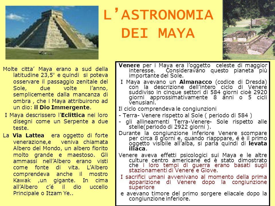Venere per i Maya era loggetto celeste di maggior interesse. Consideravano questo pianeta più importante del Sole. I Maya avevano un Almanacco (codice