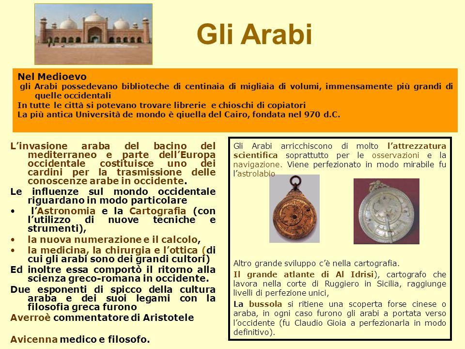 Linvasione araba del bacino del mediterraneo e parte dellEuropa occidentale costituisce uno dei cardini per la trasmissione delle conoscenze arabe in