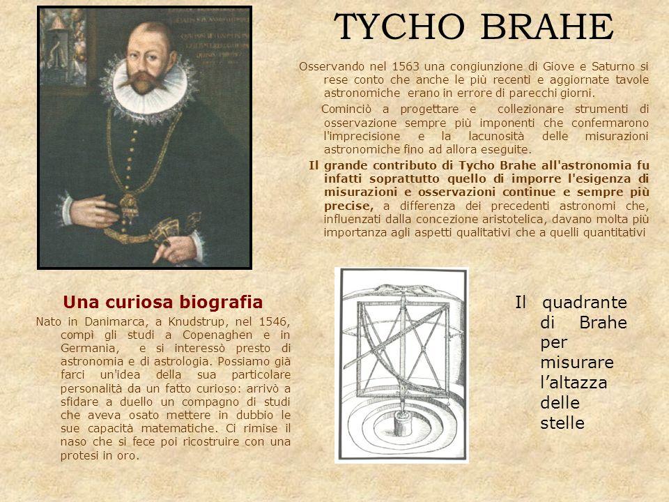 TYCHO BRAHE Una curiosa biografia Nato in Danimarca, a Knudstrup, nel 1546, compì gli studi a Copenaghen e in Germania, e si interessò presto di astro