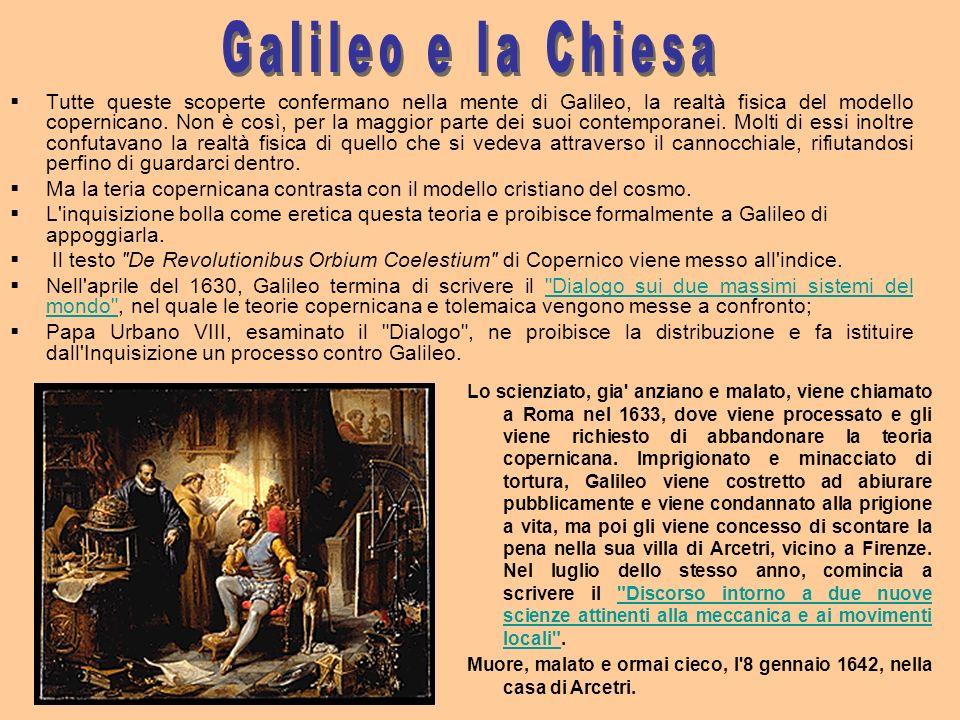Tutte queste scoperte confermano nella mente di Galileo, la realtà fisica del modello copernicano. Non è così, per la maggior parte dei suoi contempor