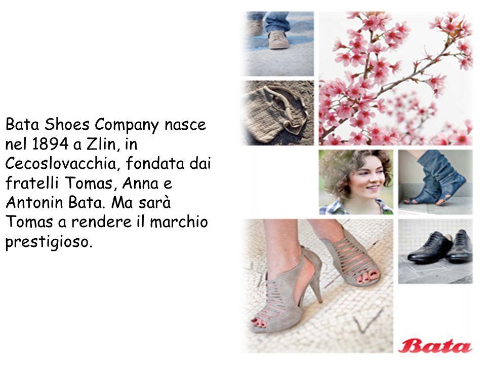 Bata Shoes Company nasce nel 1894 a Zlin, in Cecoslovacchia, fondata dai fratelli Tomas, Anna e Antonin Bata. Ma sarà Tomas a rendere il marchio prest