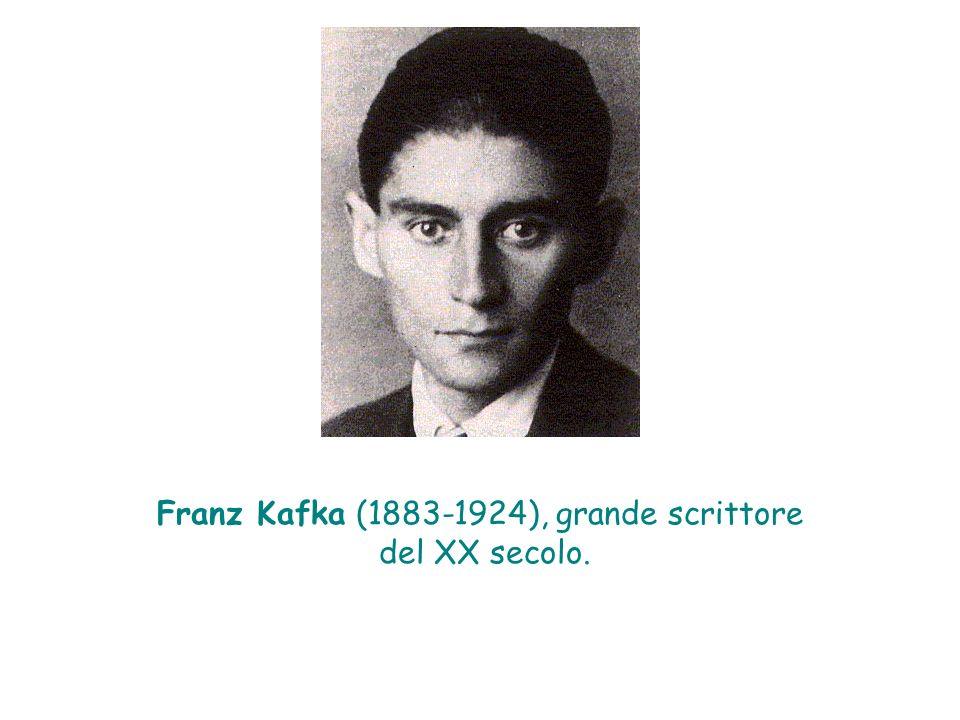 Franz Kafka (1883-1924), grande scrittore del XX secolo.