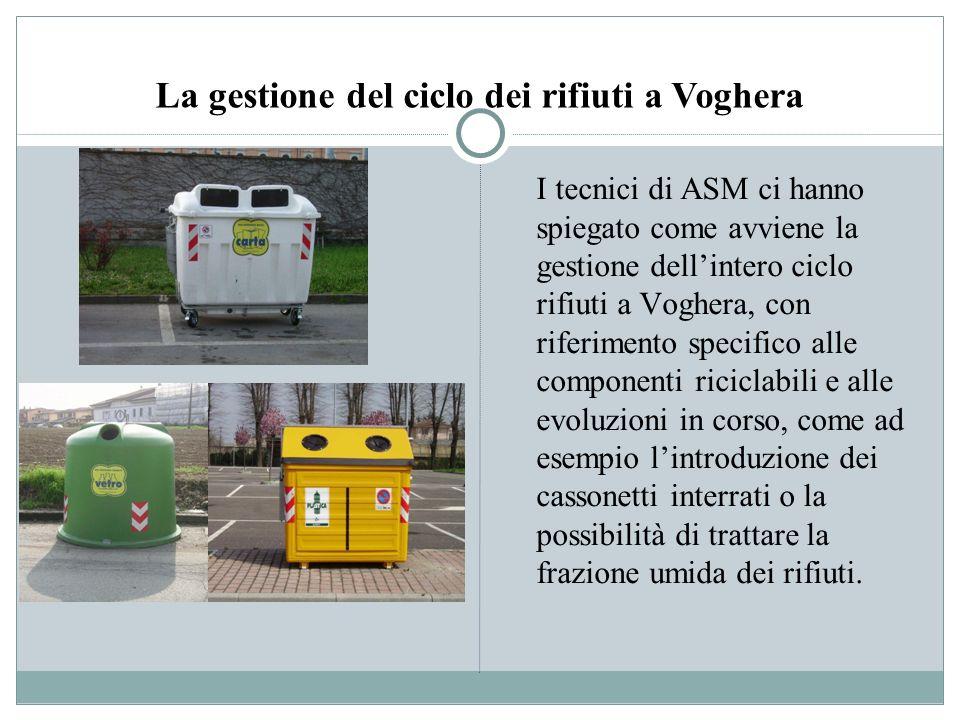 I contenitori interrati In futuro a Voghera sarà estesa a tutto il centro storico ladozione di contenitori interrati per la raccolta differenziata.
