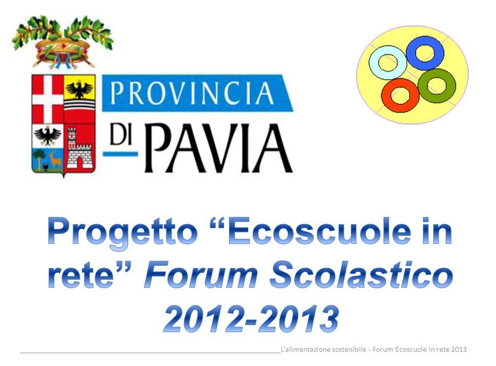 __________________________________________________________________Lalimentazione sostenibile - Forum Ecoscuole in rete 2013 Piramide alimentare-ambientale Da questa elaborazione della Piramide Alimentare emerge la coincidenza, in un unico modello, di due obiettivi diversi ma altrettanto rilevanti: salute tutela ambientale.