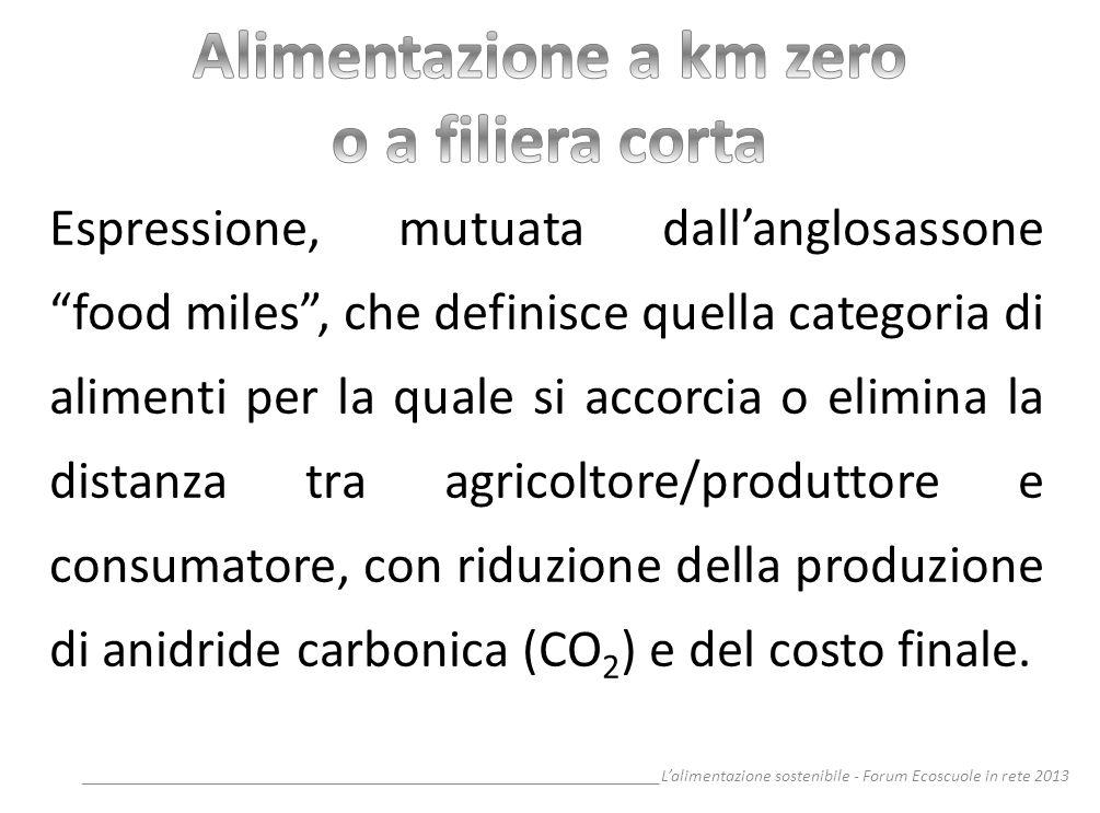 __________________________________________________________________Lalimentazione sostenibile - Forum Ecoscuole in rete 2013 Espressione, mutuata dalla