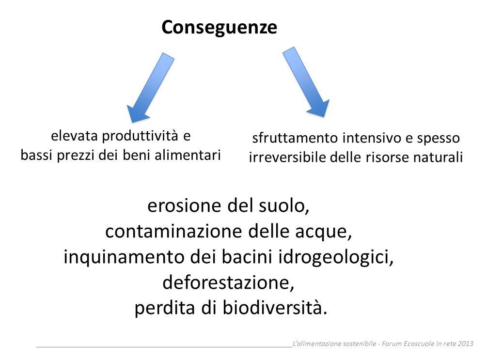__________________________________________________________________Lalimentazione sostenibile - Forum Ecoscuole in rete 2013 erosione del suolo, contam