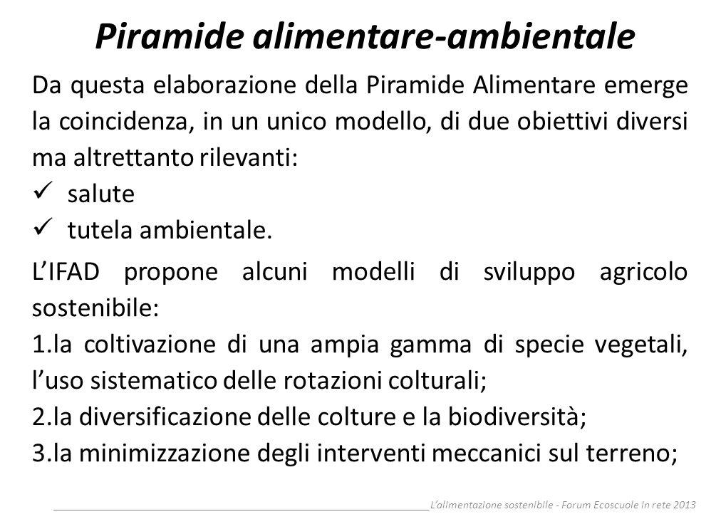 __________________________________________________________________Lalimentazione sostenibile - Forum Ecoscuole in rete 2013 Piramide alimentare-ambien