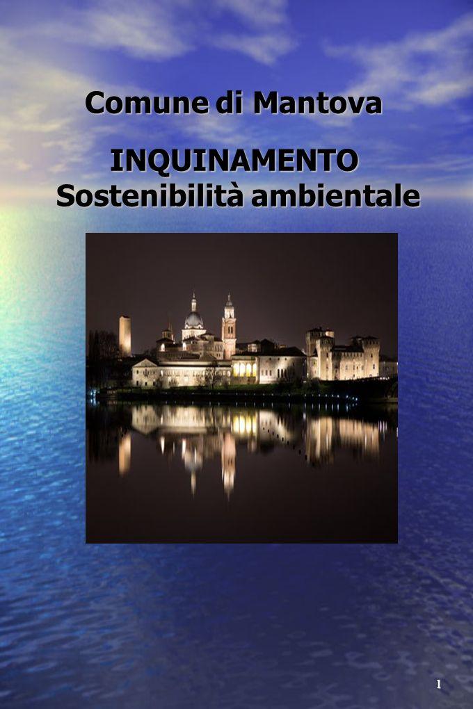 1 Comune di Mantova INQUINAMENTO Sostenibilità ambientale Comune di Mantova INQUINAMENTO Sostenibilità ambientale