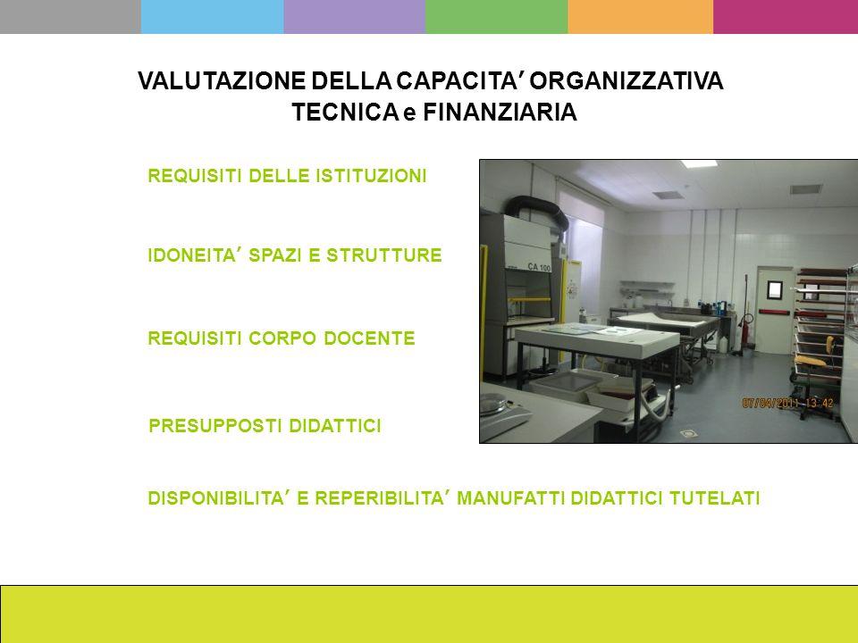La scuola dellISCR da Cesare Brandi ad oggi Francesca Romana Mainieri VALUTAZIONE DELLA CAPACITA ORGANIZZATIVA TECNICA e FINANZIARIA PRESUPPOSTI DIDAT