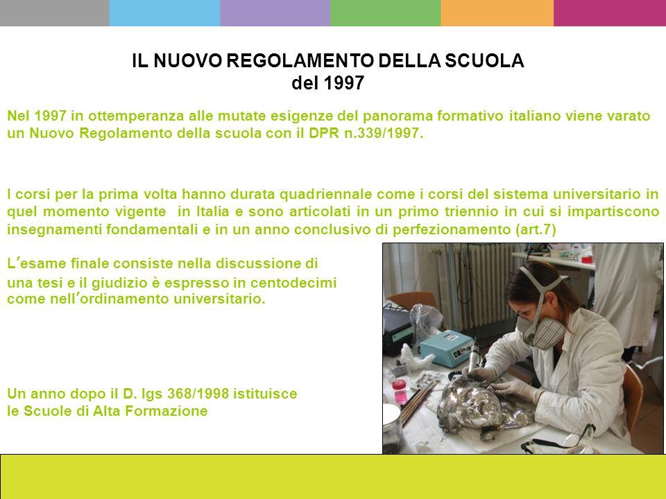 IL NUOVO REGOLAMENTO DELLA SCUOLA del 1997 La scuola dellISCR da Cesare Brandi ad oggi Francesca Romana Mainieri Nel 1997 in ottemperanza alle mutate