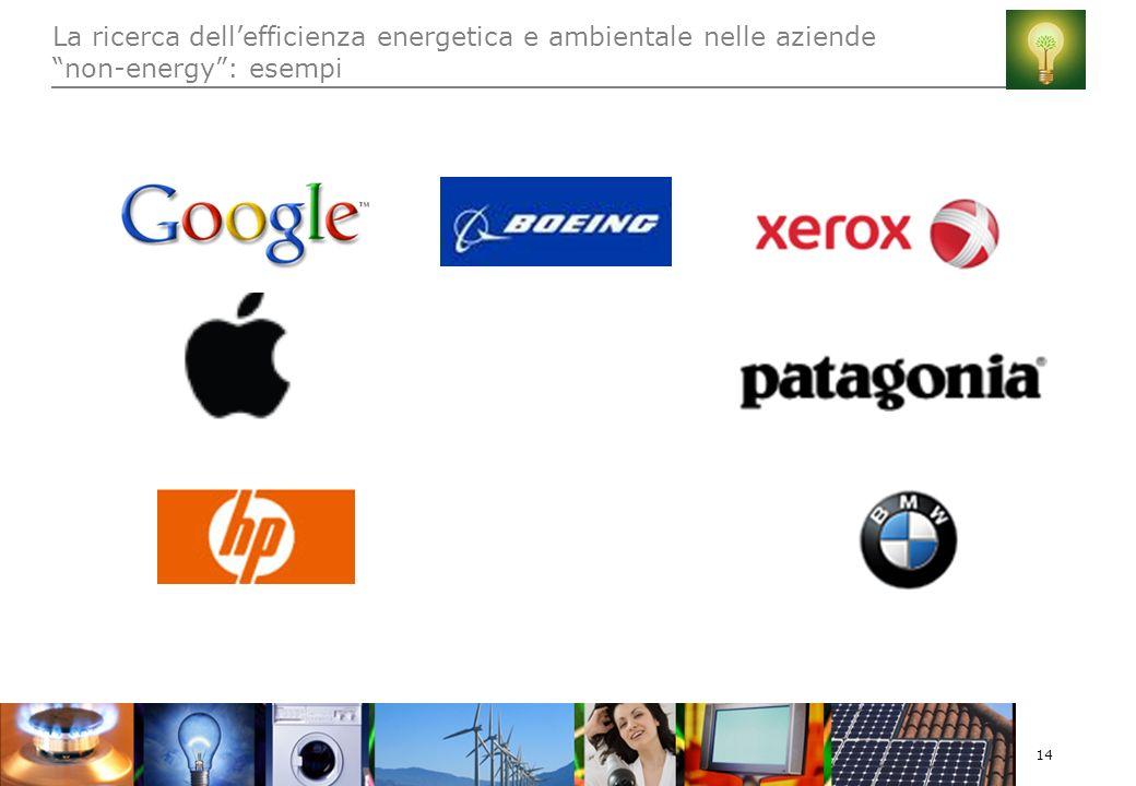 14 La ricerca dellefficienza energetica e ambientale nelle aziende non-energy: esempi