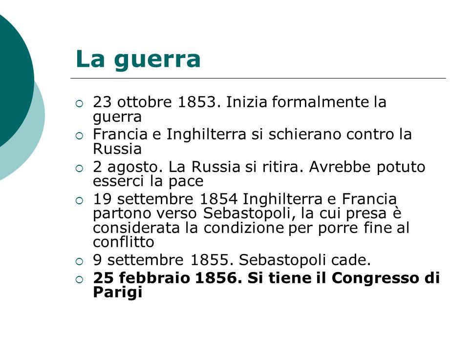 La guerra 23 ottobre 1853.