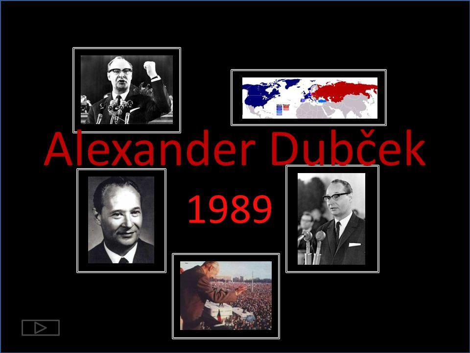 Alexander Dubček 1989