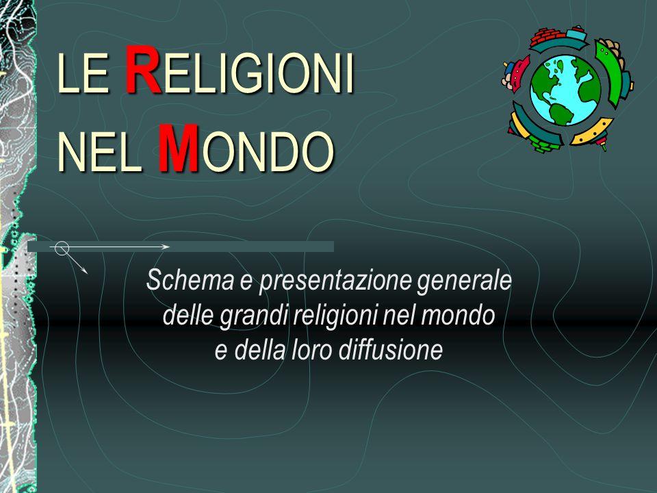 LE R ELIGIONI NEL M ONDO Schema e presentazione generale delle grandi religioni nel mondo e della loro diffusione