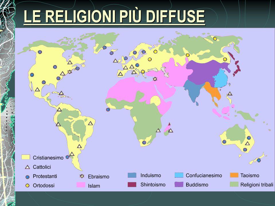 LE RELIGIONI PIÙ DIFFUSE