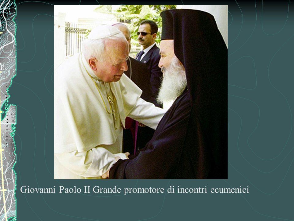 Con papa Giovanni XXIII E il Concilio Vaticano II È nata la volontà di unificare di nuovo le chiese cristiane (Ortodossi o cristiani di oriente, Evangelici o Luterani, Cattolici, Anglicani) ECUMENISMO