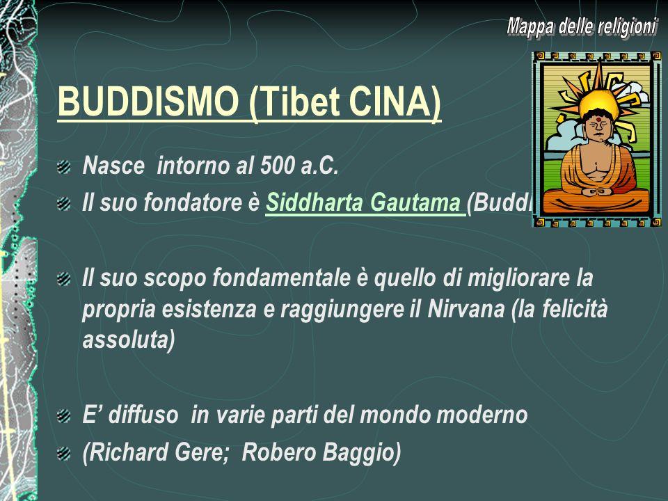 BUDDISMO (Tibet CINA) Nasce intorno al 500 a.C.