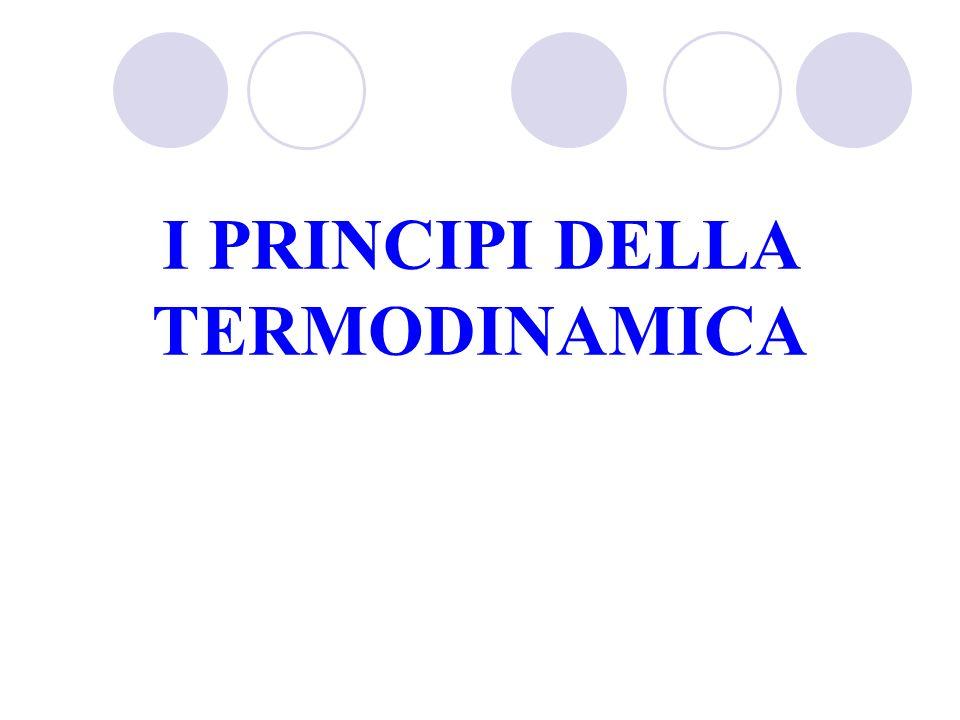 I PRINCIPI DELLA TERMODINAMICA