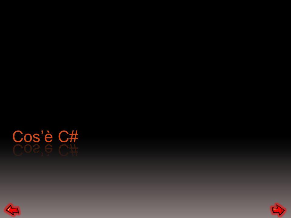 Ogni istruzione termina con ; Come potete vedere ogni volta che definiamo un namespace, una classe, un metodo vengono aperte e chiuse delle parentesi graffe che definiscono linizio e la fine.