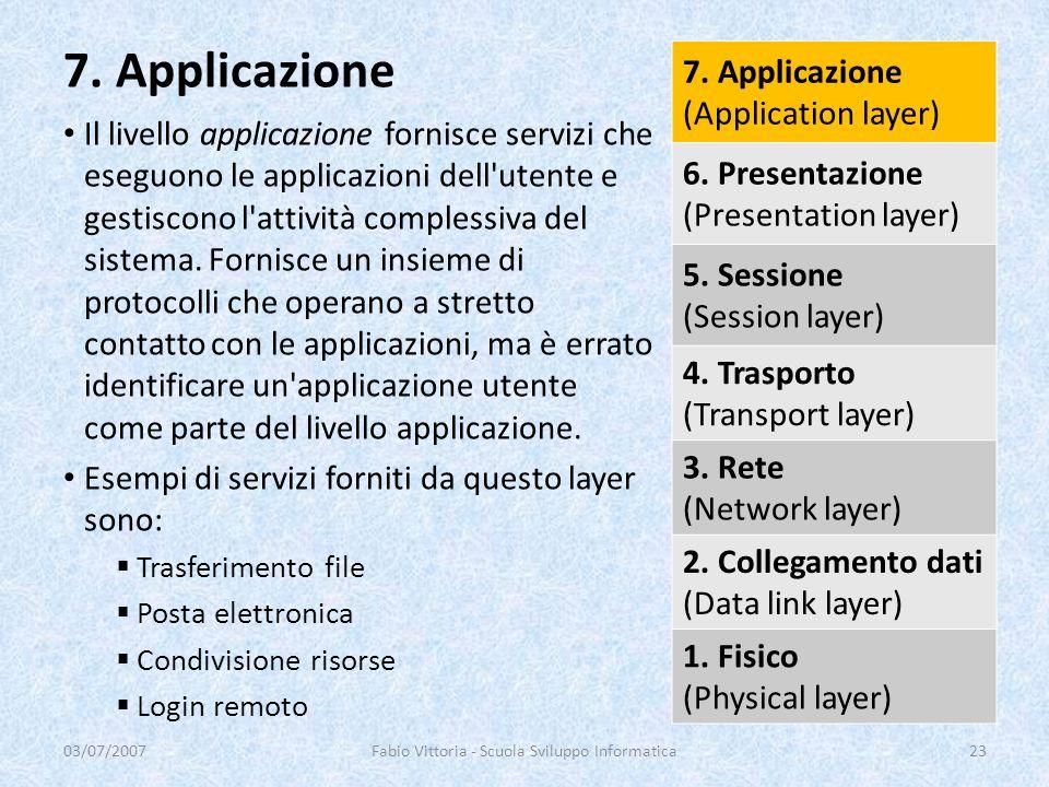 Il livello applicazione fornisce servizi che eseguono le applicazioni dell'utente e gestiscono l'attività complessiva del sistema. Fornisce un insieme