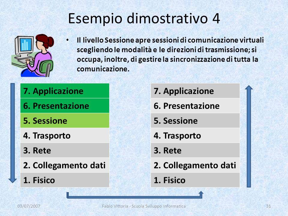 Il livello Sessione apre sessioni di comunicazione virtuali scegliendo le modalità e le direzioni di trasmissione; si occupa, inoltre, di gestire la s