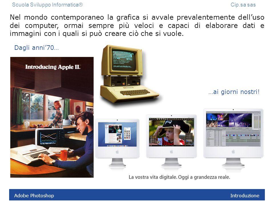 Adobe Photoshop Introduzione Nel mondo contemporaneo la grafica si avvale prevalentemente delluso dei computer, ormai sempre più veloci e capaci di elaborare dati e immagini con i quali si può creare ciò che si vuole.