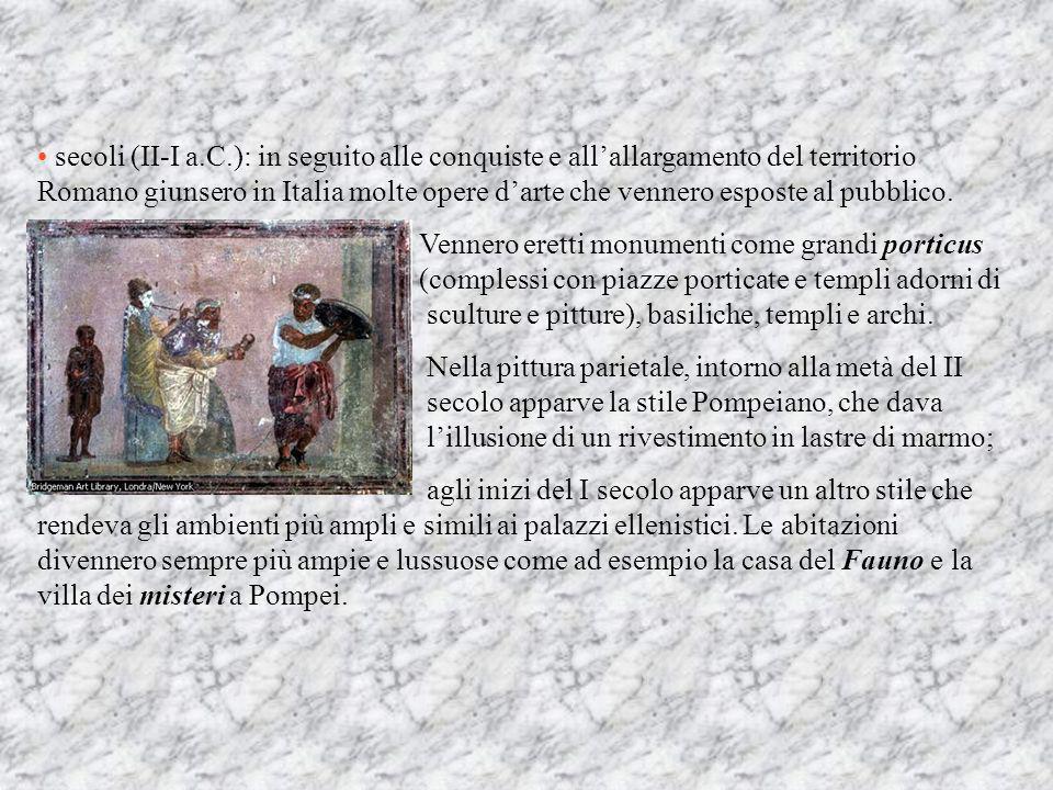 EPOCA REPUBBLICANA Questo ampio periodo di circa cinque secoli può essere suddiviso in: secoli (V-III a.C.): il più importante monumento di questo per