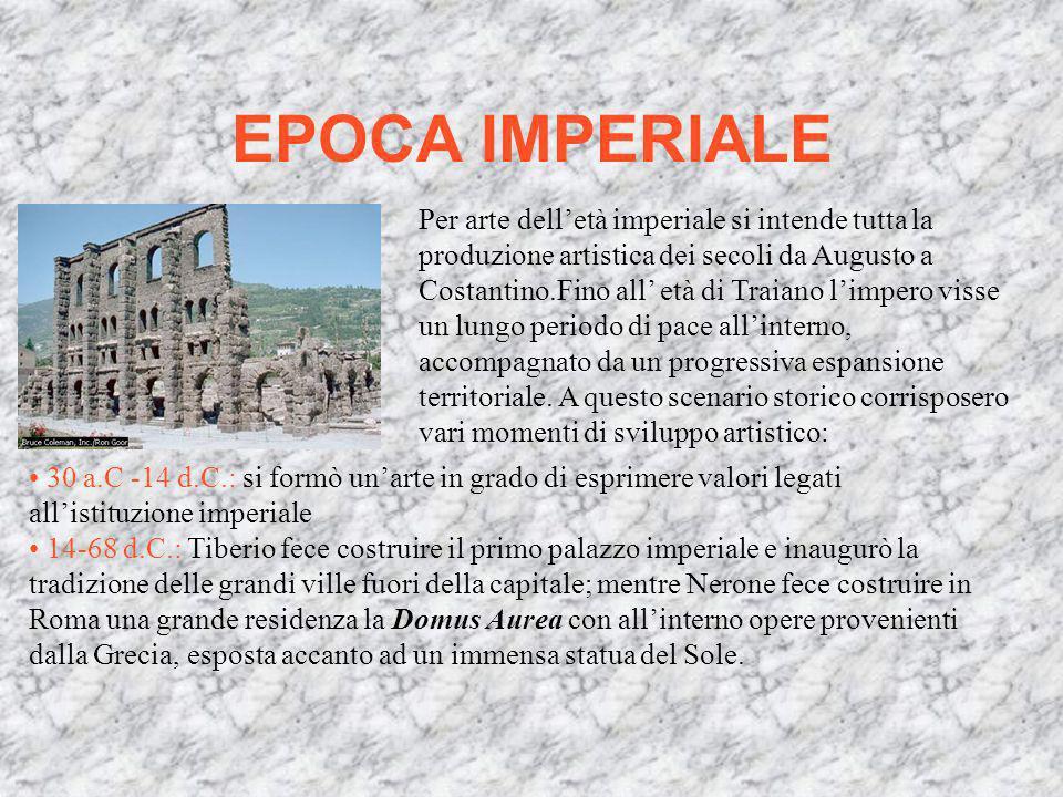 secoli (II-I a.C.): in seguito alle conquiste e allallargamento del territorio Romano giunsero in Italia molte opere darte che vennero esposte al pubb