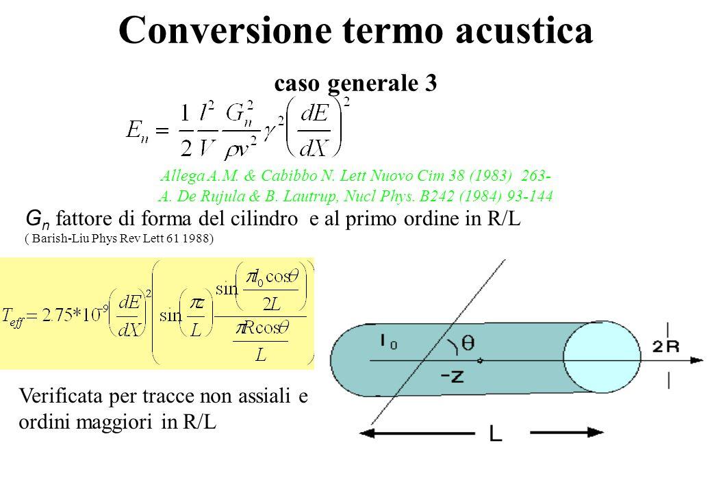 Conversione termo acustica caso generale 3 Allega A.M.