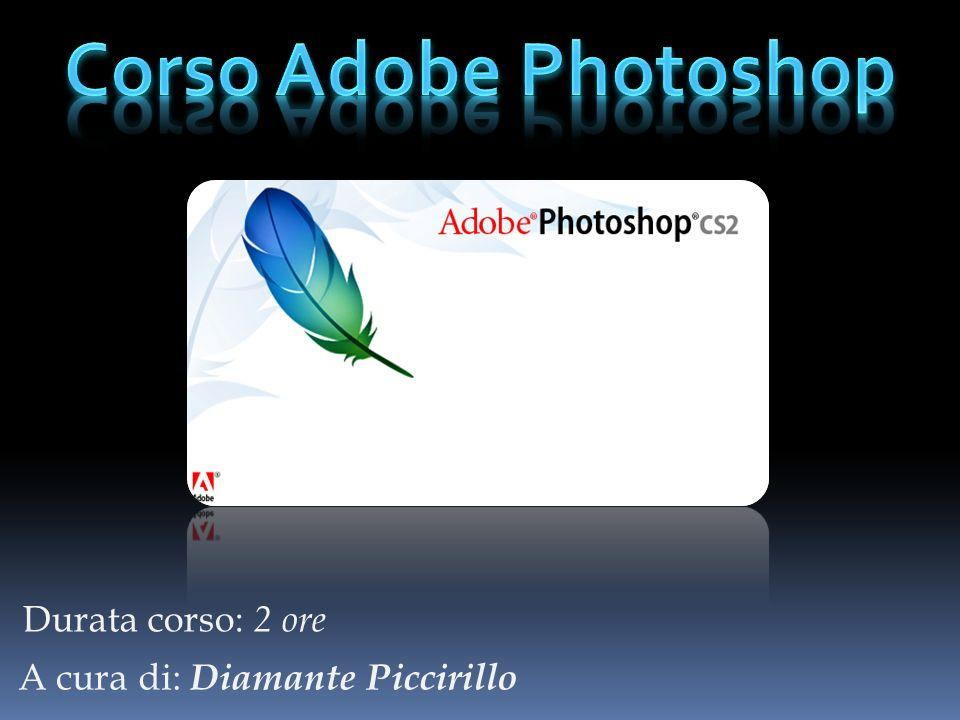 Suddivisione corso Cosè Adobe Photoshop.